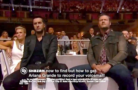 Luke Bryan and Blake Shelton are less than impressed at iHeart Radio Awards